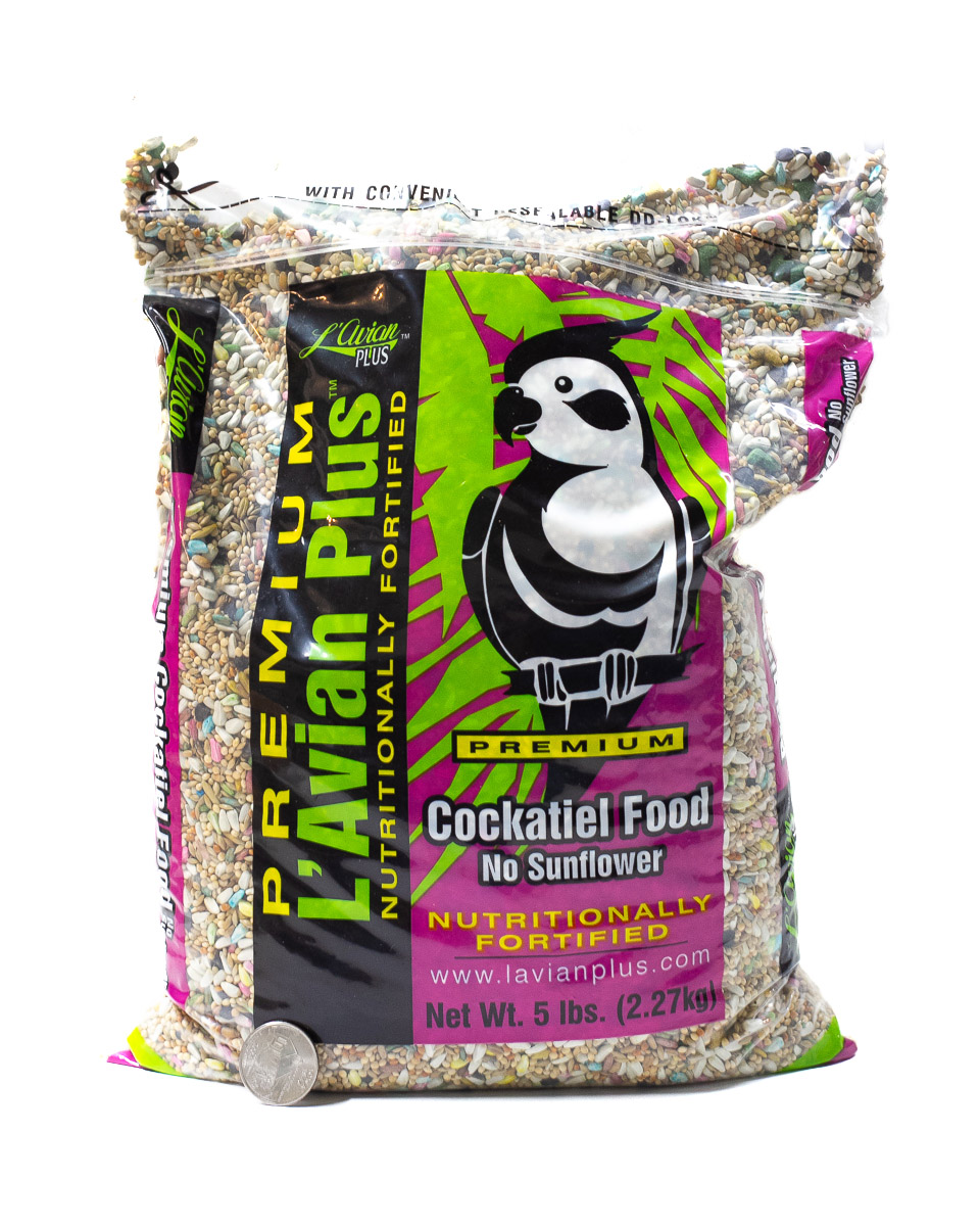 L'Avian Cockatiel No Sunflower Seeds 5lbs