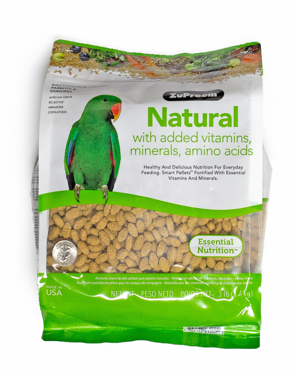 Zupreem Parrot/Conure Natural 3lbs