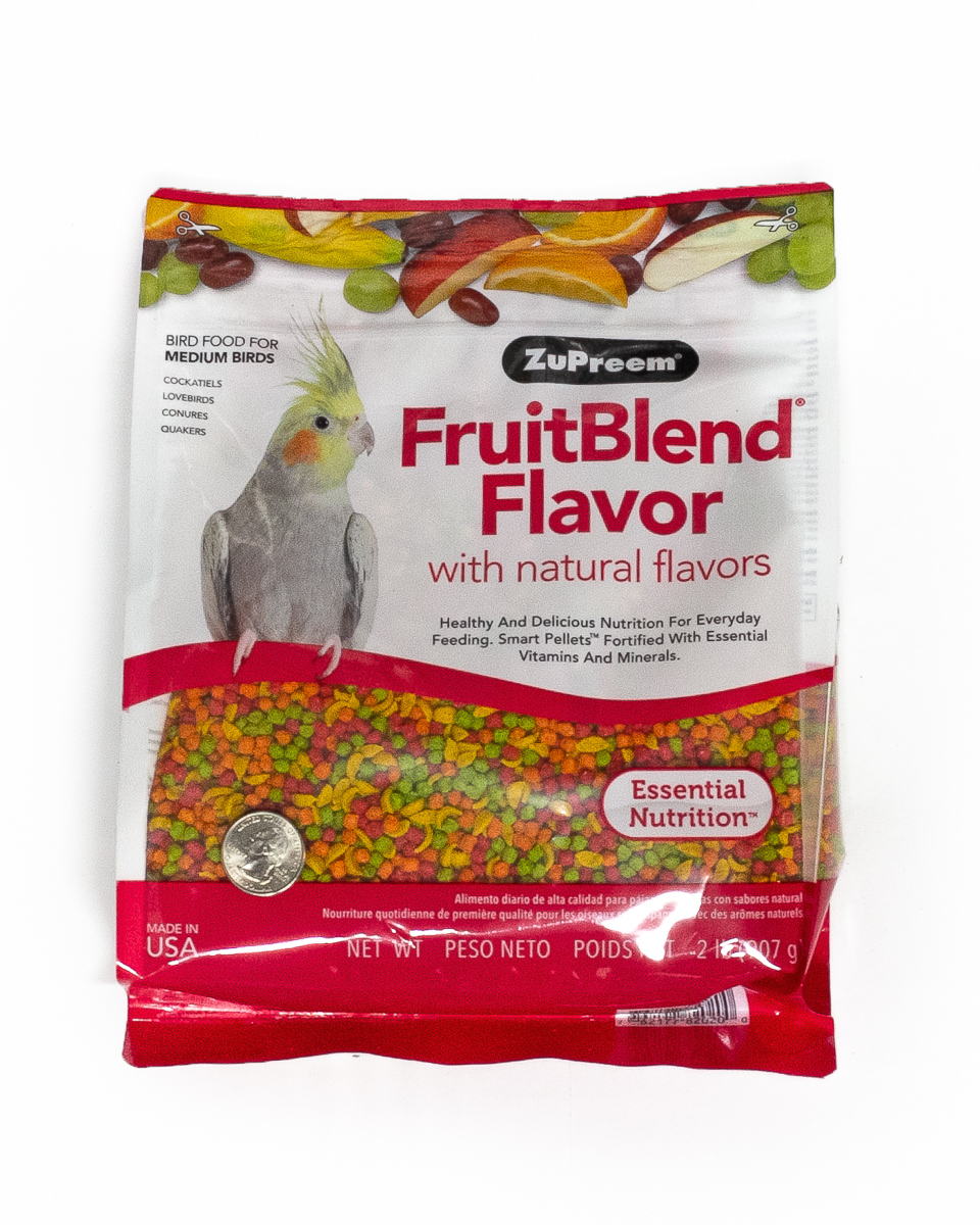 Zupreem Cockatiel/Medium Fruit Blend 2lbs